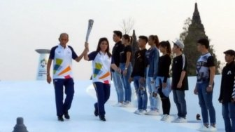 Konser Torch Relay Asian Games Ekspose Keindahan Candi Prambanan