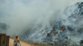 TPA Punggur Terbakar Dahsyat Sejak Tadi Malam