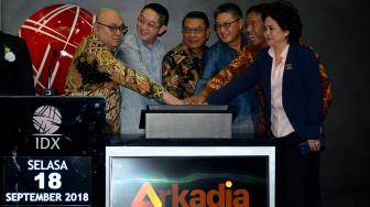 Pencatatan Perdana Saham Arkadia Digital Media