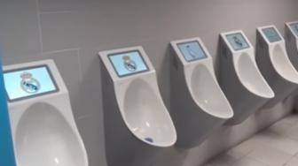 Real Madrid Bakal Pasang Layar TV Urinal di Toilet