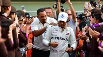 "Will Smith ""Bikin Onar"" di F1 GP Abu Dhabi 2018 !"