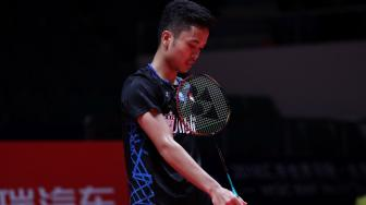 BWF World Tour Finals: Tereleminasi, Anthony Salahkan Shuttlecock?