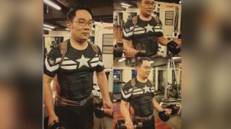 Demi Six Packs, Kini Ridwan Kamil Latihan Angkat Beban