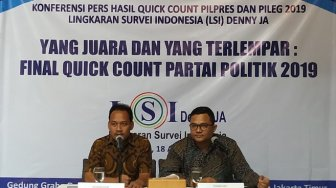 Quick Count LSI Denny JA: 9 Partai Lolos Parlemen, Perindo Abu-abu
