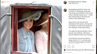 Royal Ascot 2019, Kate Middleton Tampil Memukau Berbalut Dress Biru