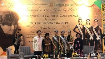 Puteri Indonesia 2019 'Trio Flores' Siap Curi Perhatian di Sleman City Hall