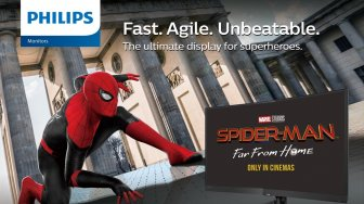 Philips Monitors Gandeng Spider-Man : Far From Home