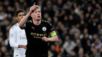 Gol Penalty De Bruyne Bawa Man City Taklukkan Real Madrid di Bernabeu