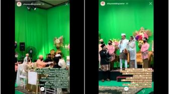 Totalitas! Pasangan Ini Gelar Pernikahan Virtual Pakai Green Screen