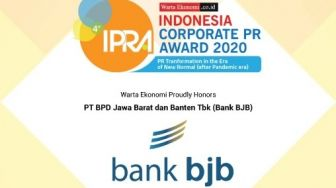 Bank BJB Raih Indonesia Corporate PR Award 2020