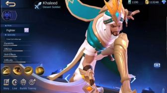 Hero Fighter Baru Pengendali Pasir, Ini Kisah Khaleed Mobile Legends