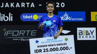 Top 5 Sport: Kalahkan Shesar, Anthony Ginting Juara PBSI Home Tournament