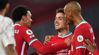 Liverpool Vs Arsenal - The Reds Menang 3-1, Diogo Jota Cetak Gol Debut