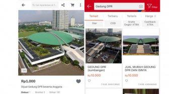 Heboh Gedung DPR dan Isinya Dijual Rp1.000, Tokopedia Buka Suara
