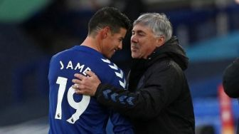 Newcastle Vs Everton, Carlo Ancelotti bakal Istirahatkan James Rodriguez
