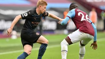 West Ham United dan Manchester City Berbagi Poin di London Stadium