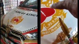 Mobil 'King of King's' Bikin Geger, Bodi DIlapisi Logam Mulia dan Akik