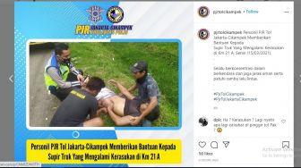 Sempat Diklaim Kerasukan, Sopir Truk Dibantu PJR di Tol Japek Diduga Ayan