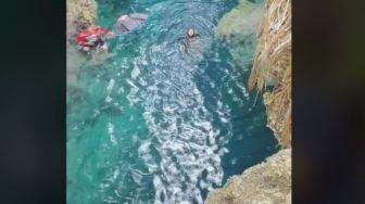 Niat Hati Ingin Asyik Terjun ke Air, Wisatawan Nyaris Celaka Gegara Ini
