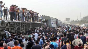 Terjadi Kecelakaan Kereta Api Lagi di Mesir, Hampir 100 Orang Jadi Korban