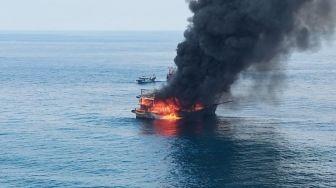 Kapal Nelayan Terbakar di Perairan Pulau Berhala, Satu ABK Tewas Dua Hilang