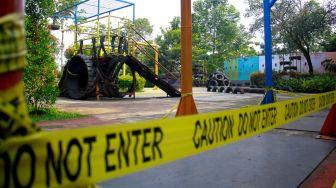 Taman Kota di Tangerang Ditutup Selama Masa Perpanjangan PPKM Level 4