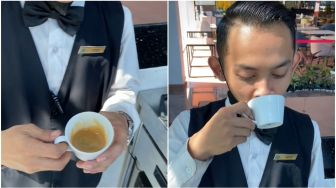 Polos, Lelaki Minum Espresso Sekali Teguk, Videonya Hibur Ratusan Ribu Pengguna TikTok
