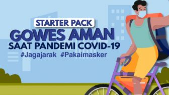 INFOGRAFIS : Starter Pack Gowes Aman Saat Pandemi Covid-19