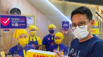 Sandiaga Uno di Palembang, Harap Pempek Mendunia Bisa Kalahkan Rendang