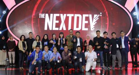 Pemenang Telkomsel The NextDev 2017. [Telkomsel]