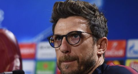 Pelatih AS Roma, Eusebio Di Francesco (AFP/Filippo MONTEFORTE)