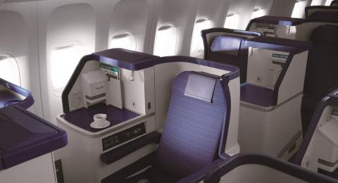 Inilah Business Class Seats ANA tipe Staggered seat. (Foto: Dok. ANA)
