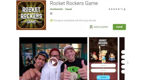 Gandeng Inmotion Digital, Band Rocket Rockers Rilis Game