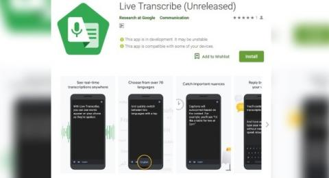 Live Transcribe. [Google Play Store]