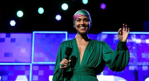Alicia Keys di Grammy Awards. (AFP)