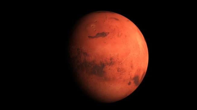3D render the planet Mars on a black background, high resolution. Some elements of this image furnished by NASA.