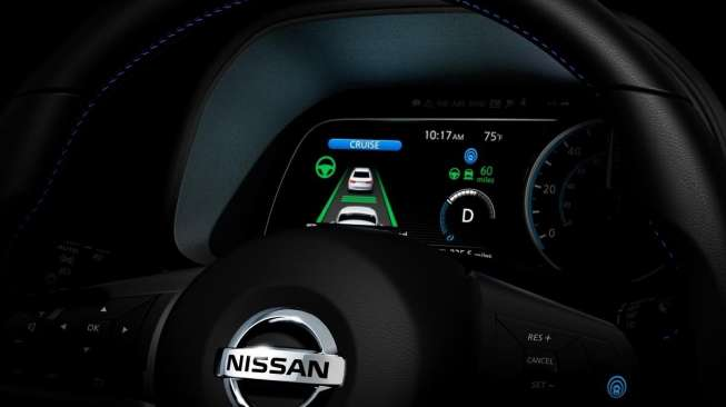Tampilan dasbor All-New Nissan Leaf. [Inside Evs]