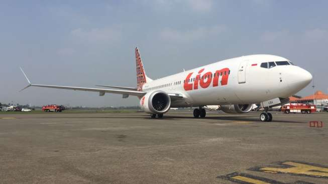 Ilustrasi Pesawat Lion Air jenis Boeing 737 MAX 8. [Dok Lion Air Group]
