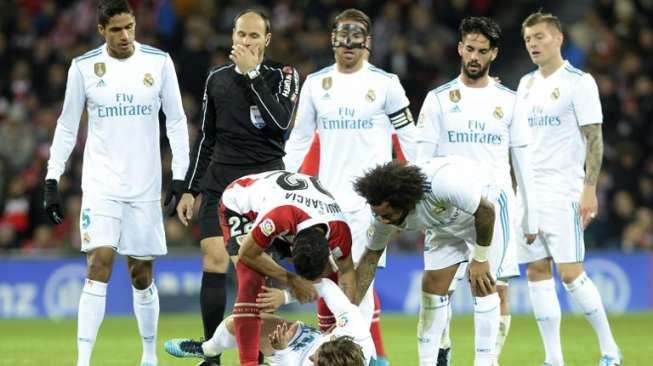 Real Madrid gagal menundukkan Athletic Bilbao [AFP]