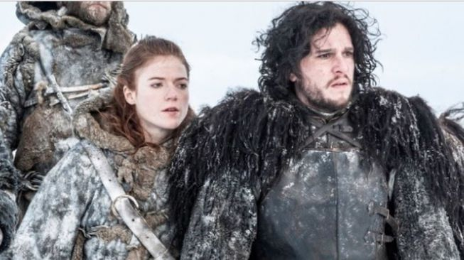 Kit Harington dan Rose Leslie di serial Game of Thrones. (Instagram)