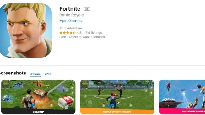 Fortnite Battle Royale Mobile. [Google Play Store]
