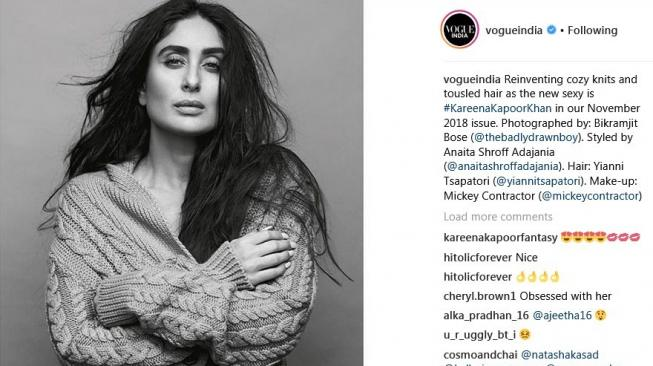 Kareena Kapoor di Vogue India. (Instagram Vogue India)