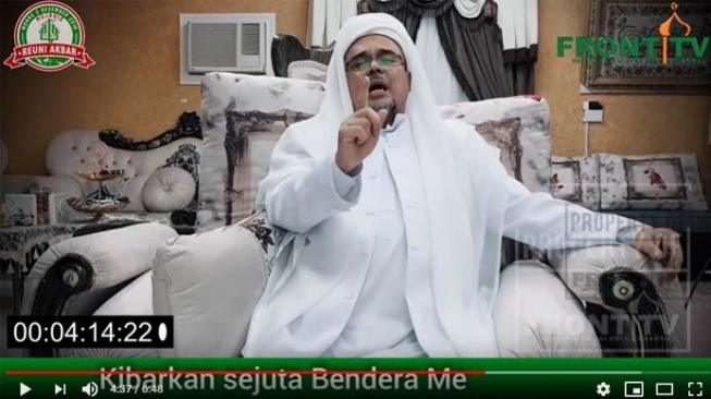 Habib Rizieq Shihab. [YouTube/Front TV]
