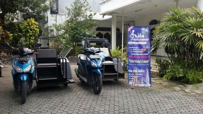 Ojek online difabel Difa City Tour. (dok Difa City Tour)