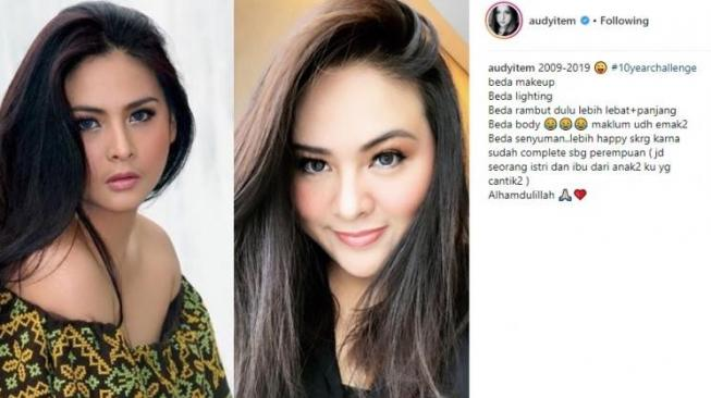 10 Years Challenge selebriti Tanah Air. [instagram]