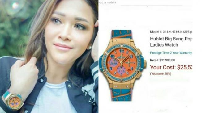 Hublot tipe Big Bang Pop Art 41mm Ladies Watch.