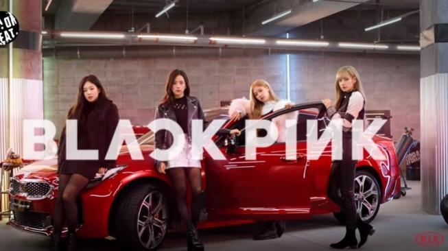 BLACKPINK Kia Stinger [YouTube: Kia Motors Worldwide].