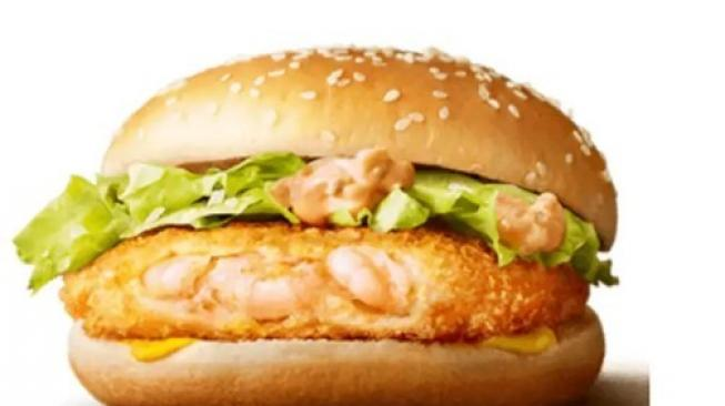 Burger EBI Filet-O, menu McDonalds Jepang. (McDonalds Jepang)