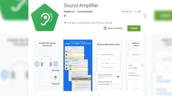 Sound Amplifier. [Google Play Store]