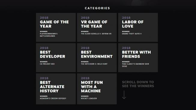 The Steam Awards 2018. [Steam]
